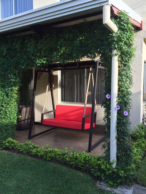 Terraza de la casa para disfrutar las mañanas y tardes.