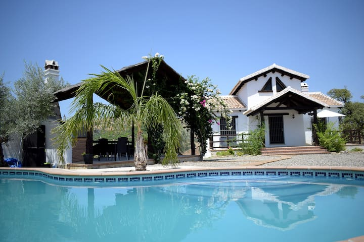 Country house Jacaranda.  Garden and swimming pool