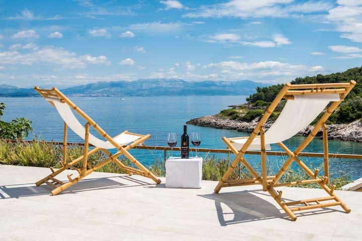 Stunning seafront Villa Talia