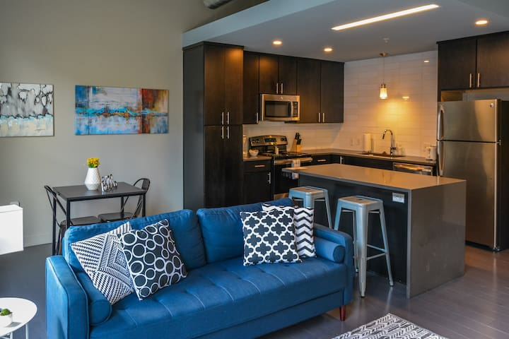 Trendy 1BR Apt in Historic Garment District