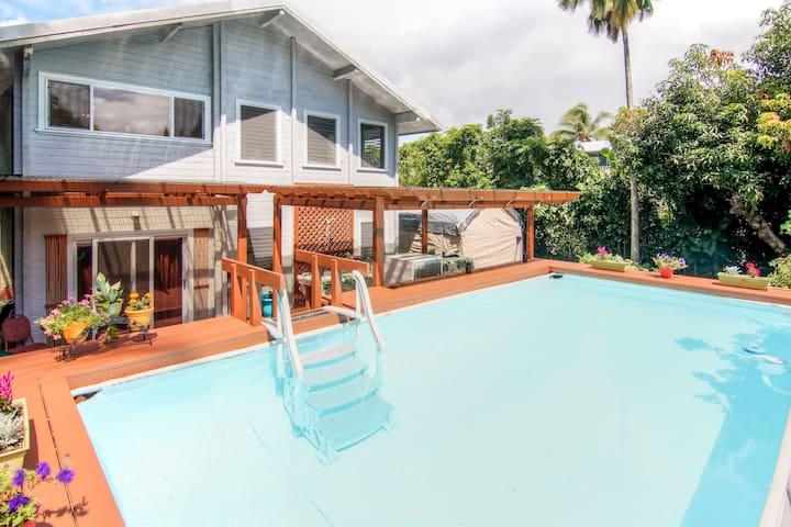 Vibrant Pahoa 1BR Flat w/Private Pool - Pāhoa - Apartment