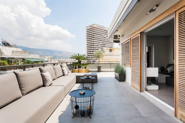 70m² terrace Penthouse, ideal for digital nomads