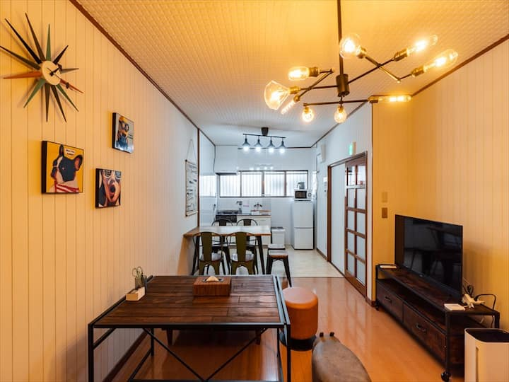 Namba, Umeda,Tennoji! Entire 4BR house Max11