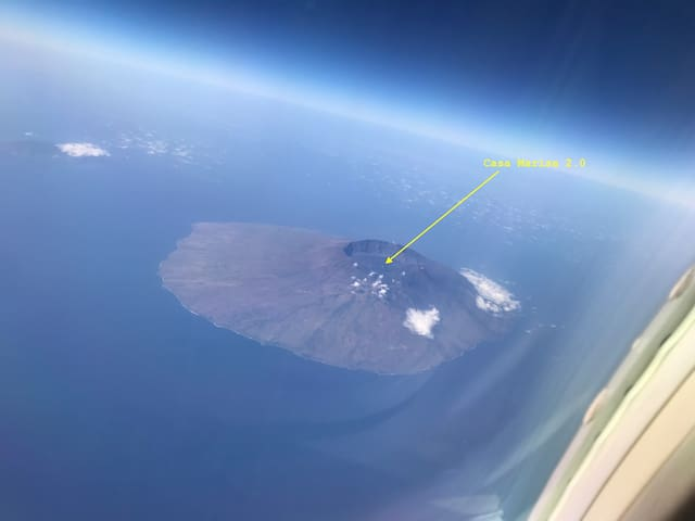 Who needs Google Earth !? Island of Fogo with the exact location of Casa Marisa and the 5 Funkus