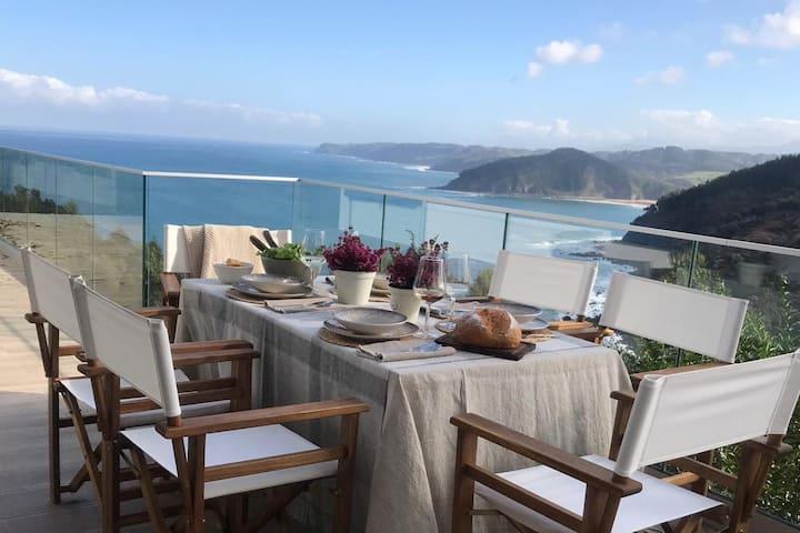 Espectacular casa de lujo con vistas mar Asturias
