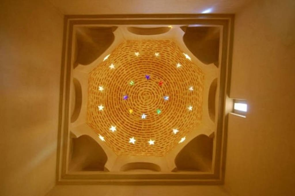The bathroom celing dome