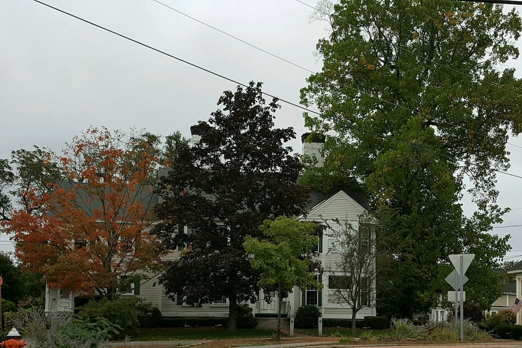 Front view in the fall.
