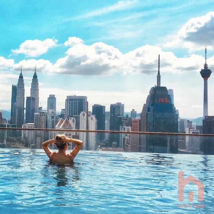 3br kuala lumpur city_Sky Pool_KLCC View