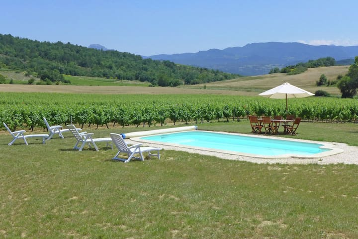 Traditional holiday on wine estate with private pool in South France