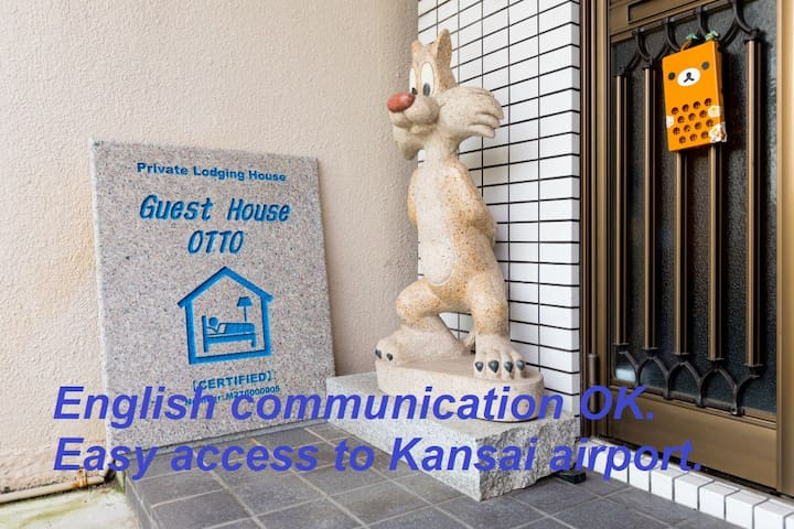 English communication OK. Easy access to Kansai AP