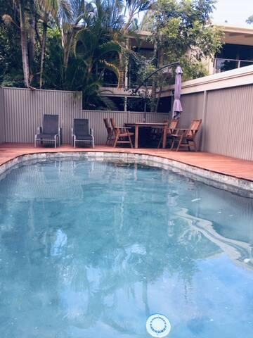 Small pool outside villa