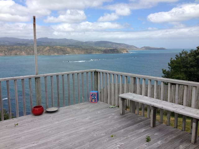 Sunny 2-bed Kiwiana home with stunning sea view