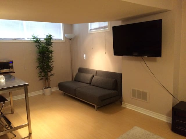 Furnished Basement Studio near Lake