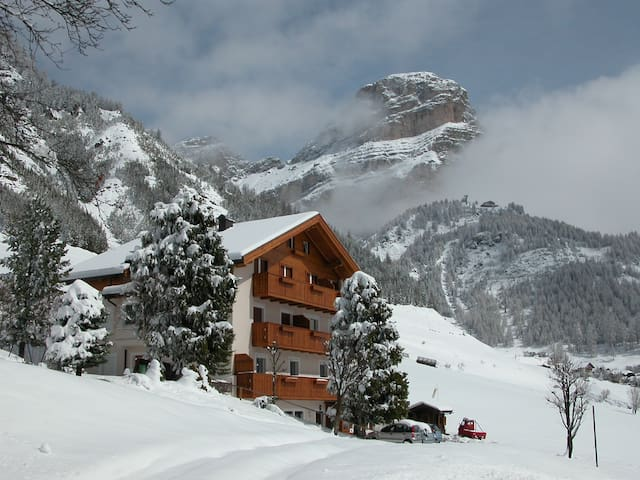 Apt COCOON 407 Colfosco - Ski in 2 minutes walk
