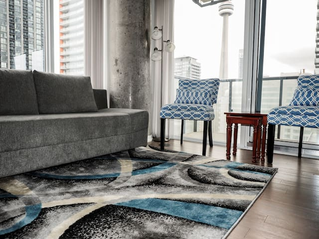 Hermoso Apto en DT Toronto con vista de CN Tower