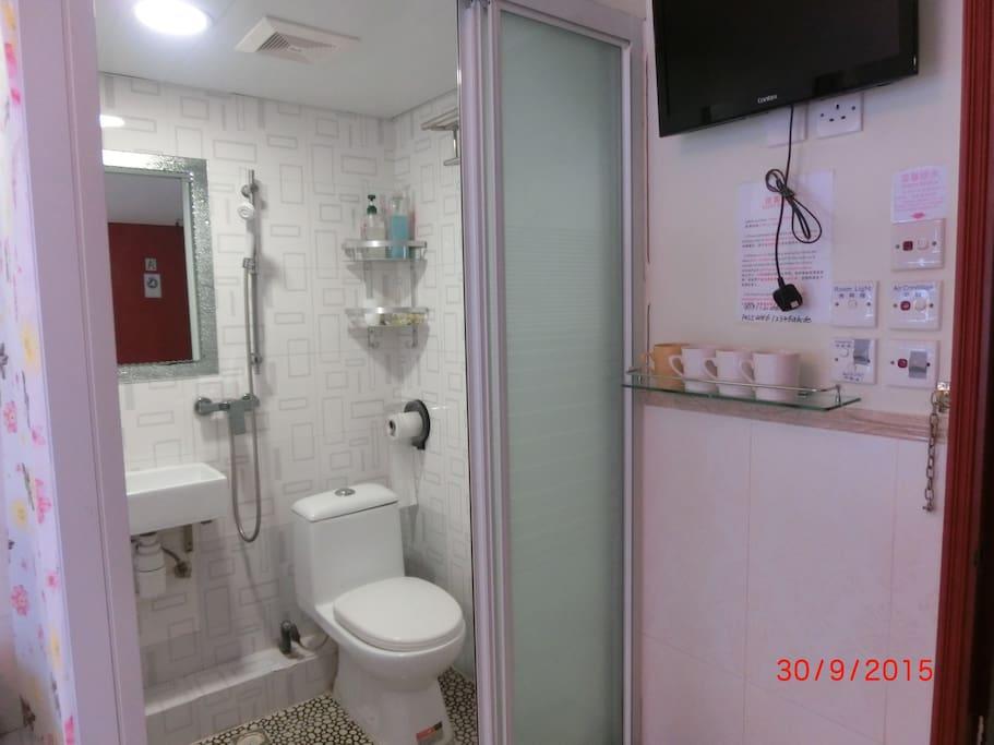 寬敞的獨立衛浴