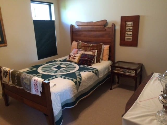 Guest room is 10 x 11 (excluding walk-in close and full bath).