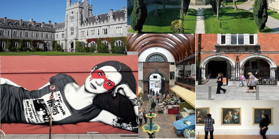 Townhouse in historic Cork city, 4 min walk to UCC