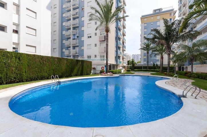 TE DE PALMA - Apartment with shared pool in Playa de Gandia. Free WiFi