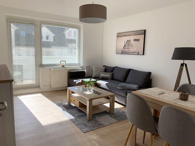 Gemütl. Apartment mit Küstennähe, Balkon & Netflix