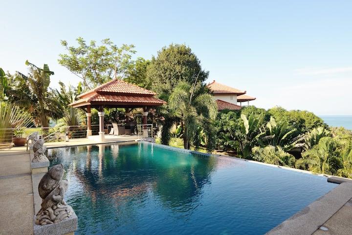 30% Off! Huge Pool! Sea View! Villa Serena - 4BR