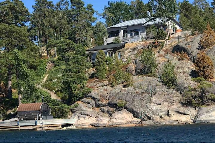 Fantastic seafront house in Stockholm archipelago