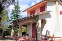 modern villa with swimming pool