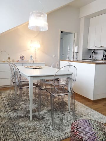 Cute loft-apartment with a sauna, great location - Turku - Loft