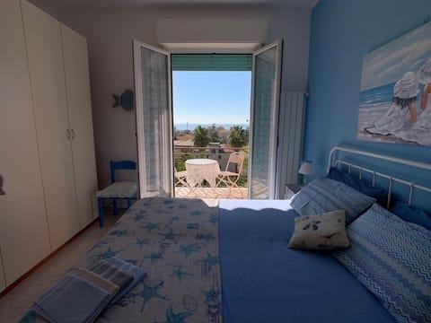 ¡Casa muy acogedora con fabulosas vistas al mar!