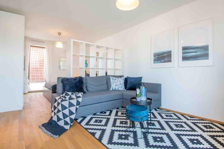 Modern studio airport apartment