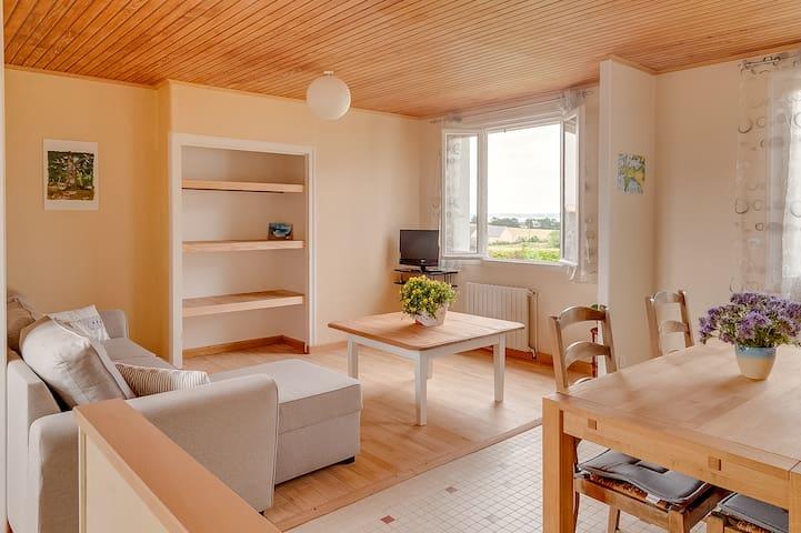 Gîte cocooning et paisible, avec vue sur mer - Saint-Nic - Appartement