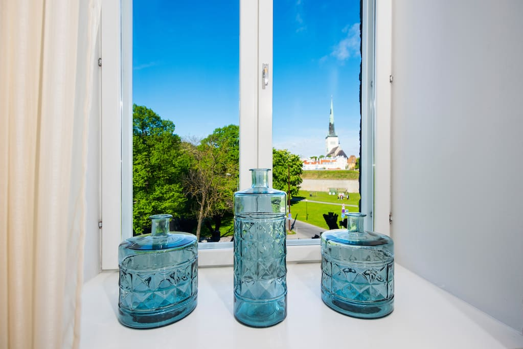 Enjoy stunning views of Tallinn's medieval Old Town, including St. Olaf's Church