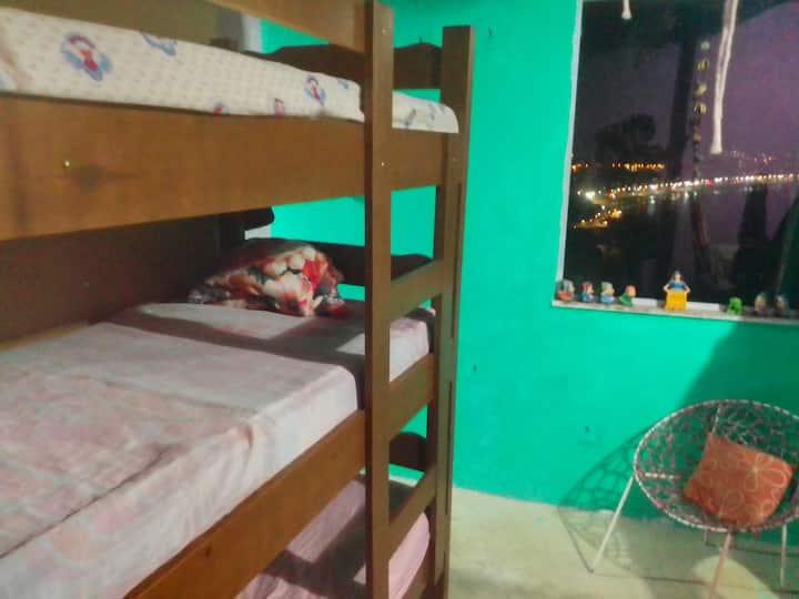 Dormitórios disponíveis, pousada Bela vista