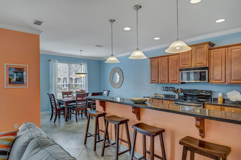 Open kitchen and dining area - perfect for fun gatherings!