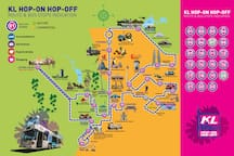 Hop On And Off KL City Tour Stops.