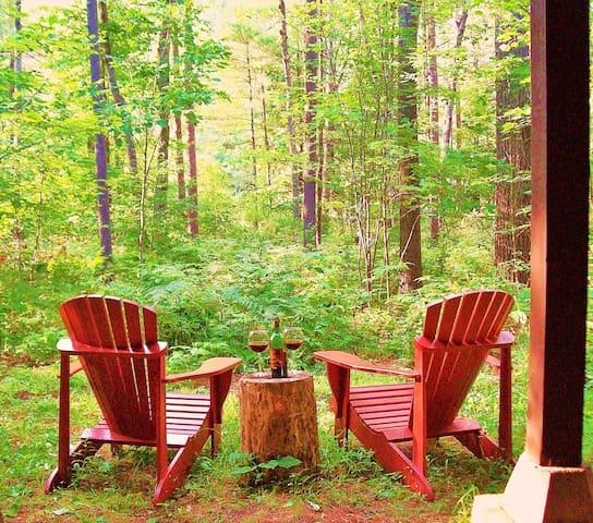 Adirondack riverfront retreat