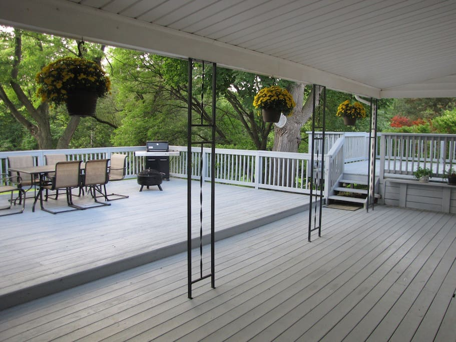 View of the deck.  Currently have more furniture, including a fire pit...updated picture soon.
