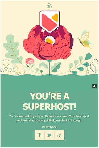 I'm super excited to host you! Superhost for 19 quarters in a row!