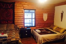 Master bedroom allows up to 4 people - queen and full bed with dressers for clothes