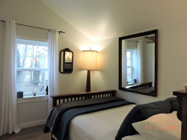 2nd Bedroom has a Full size bed Serta Firm mattress with Comfort Pillowtop and allergen-free cover, quality linens, pillow choices including memory foam and cervical support pillows, a bench, closet, chest and mirrors.