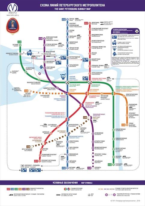 SPb map