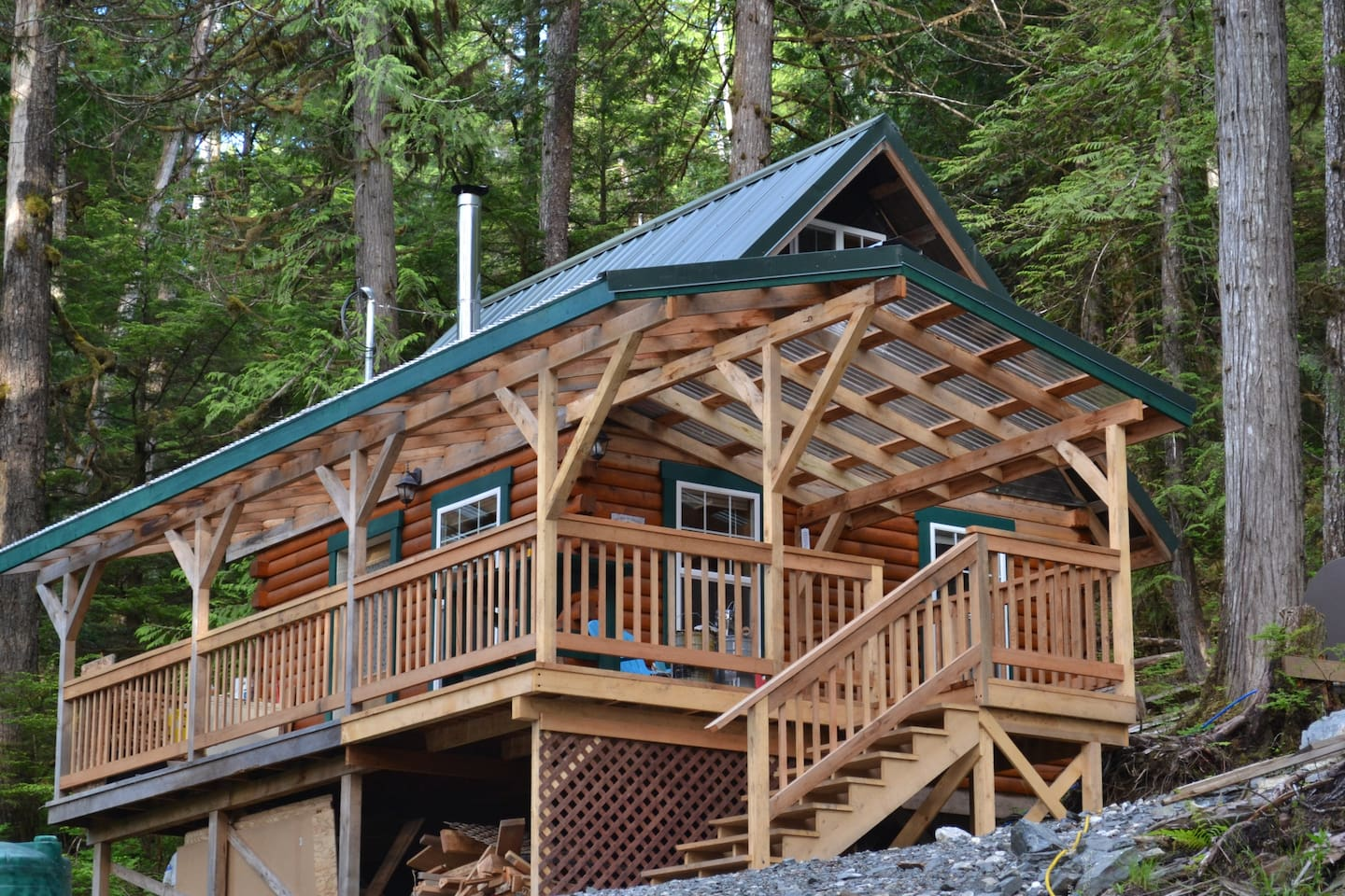 Lots of covered decks from which to enjoy the peaceful surroundings.