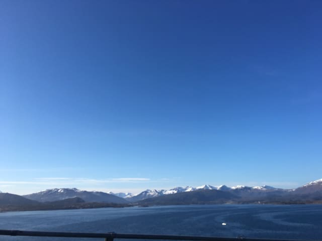 Arrival - view from Molde airport