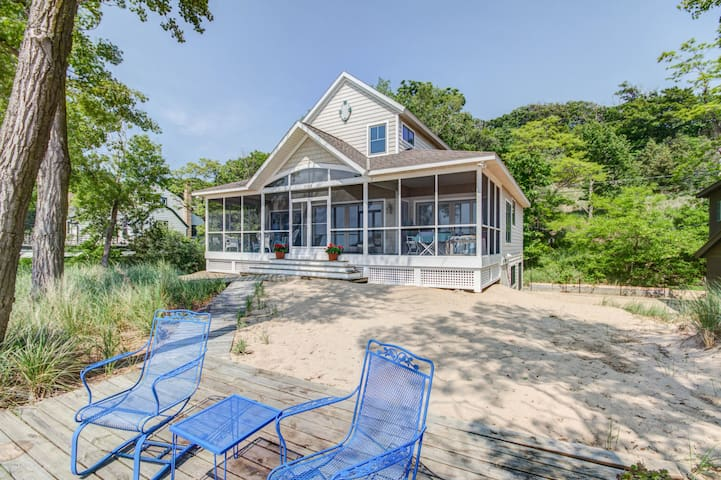 Amazing beach house.  huge beach; 5 bedms. 3 baths
