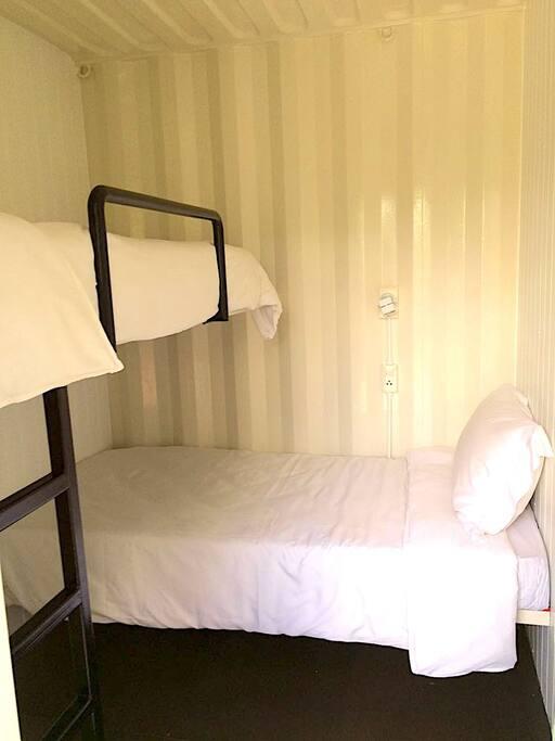 Bunk bed set up (2 beds per room)
