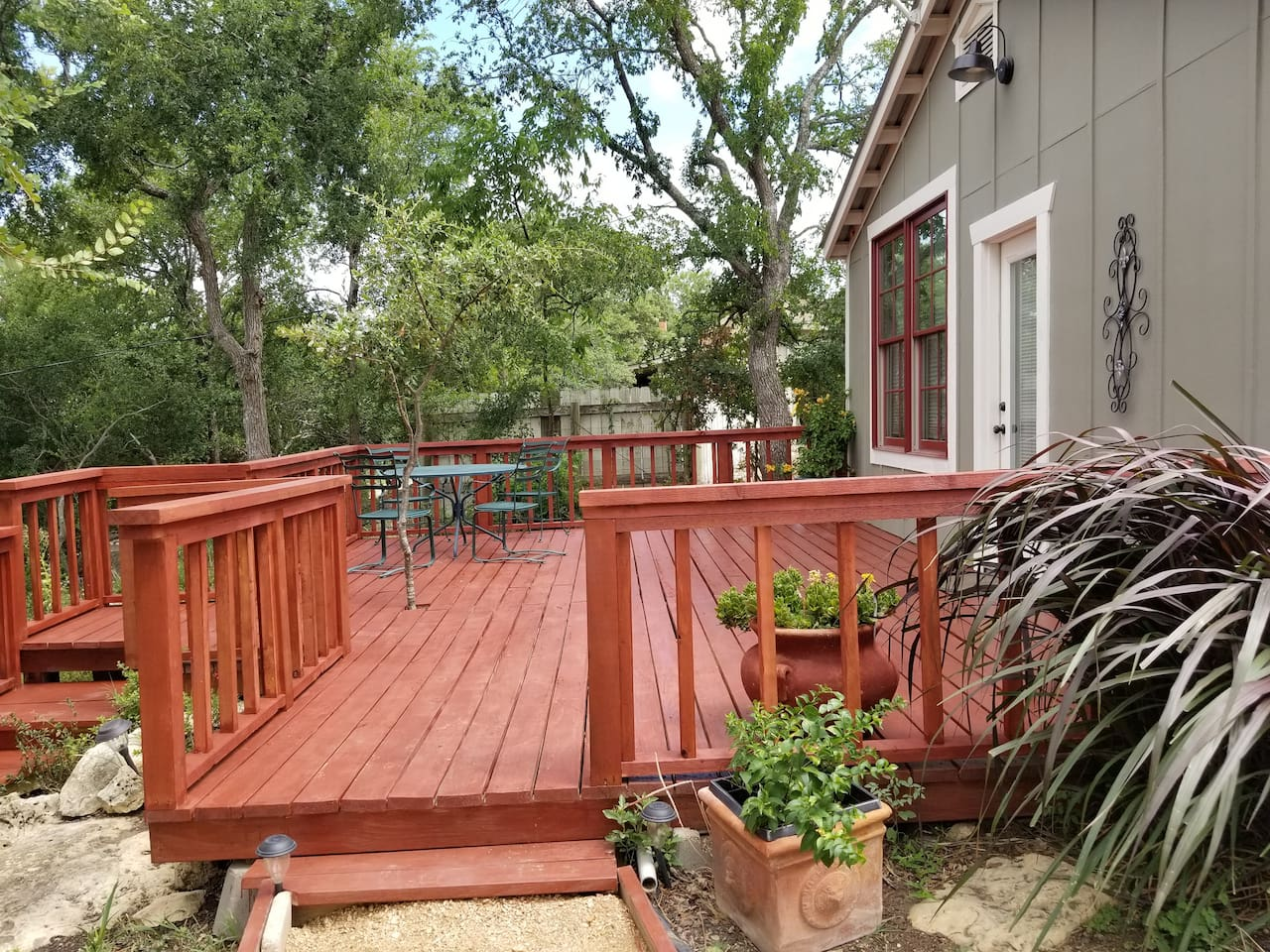 New deck with table and seating