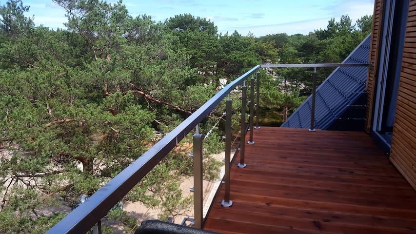 P morze| Apartament z tarasem i widokiem na wydmy - Hel