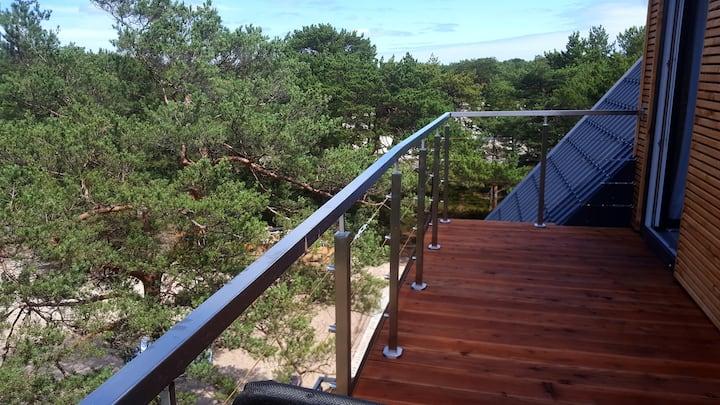 P morze| Apartament z tarasem i widokiem na wydmy