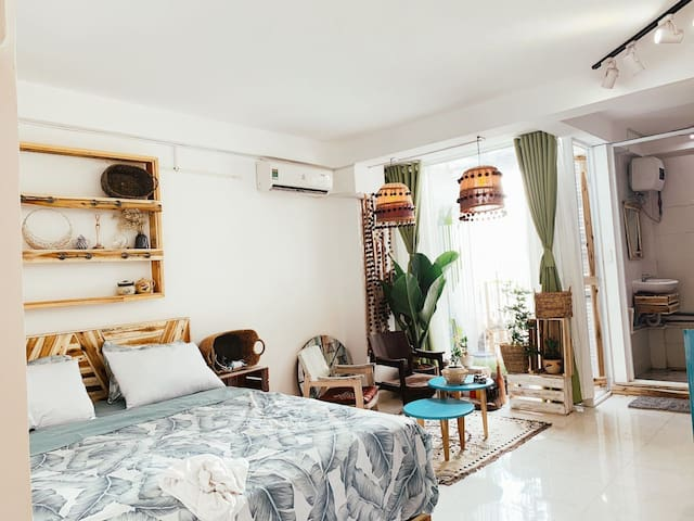 TRẦNHOME 4-furnished STUDIO- BUI VIEN-PHAM NGU LAO
