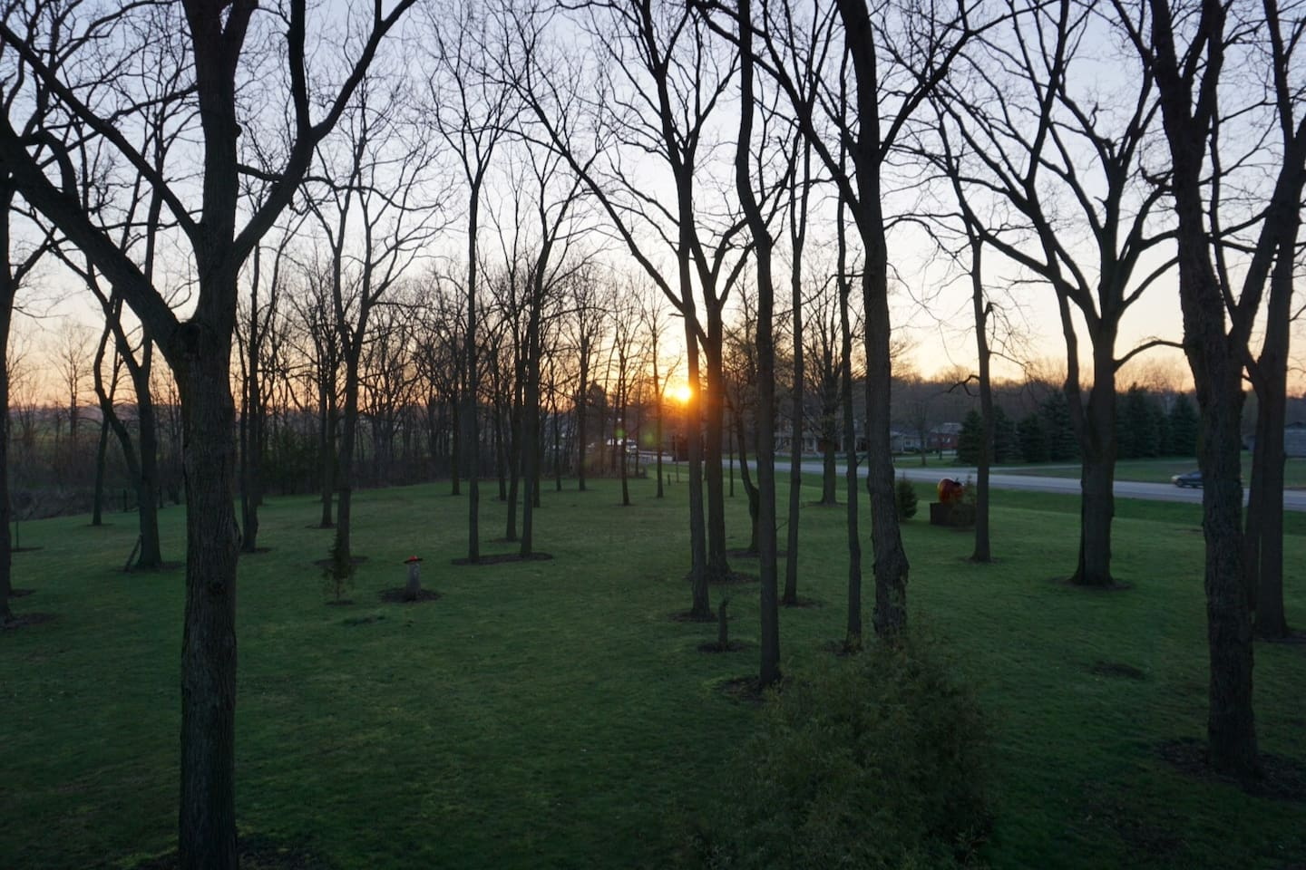 Sunrise , view from the bedroom